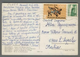 C4651 ROMANIA Postal History 1972 OLYMOICS GAMES MUNCHEN 72 BUCARESTI (m) - Cartas