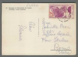 C4670 TUNISIA Postal History EXPO 67 MONTREAL - CARTHAGE RUINES ROMAINES (m) - Tunisia (1956-...)