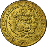 Monnaie, Pérou, 10 Centavos, 1970, TTB, Laiton, KM:245.2 - Pérou