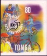 Tonga Cromalin Proof 1996 - Cycling - Bicycle - 4 Exist - Vélo