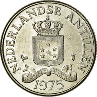 Monnaie, Netherlands Antilles, Beatrix, 25 Cents, 1975, TTB, Nickel, KM:11 - Antille Olandesi