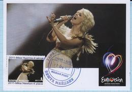 UKRAINE Maidan Post. Maxi Card Country At Eurovision Song Contest Düsseldorf Germany 2011 Mika Newton. 2017 - Ucrania