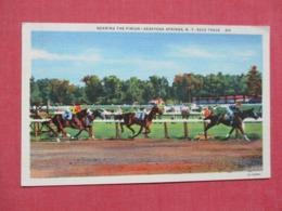 Horse Race Track Near The Finish    Saratoga Springs   New York      Ref   3658 - Saratoga Springs