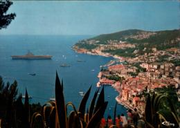 ! Postcard, Villefranche Sur Mer, Flugzeugträger Clemenceau, 1979, Aircraft Carrier, Porte Avions - Krieg