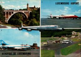 ! Modern Postcard, Luxemburg, Luxembourg Airport, Aerodrome, Flughafen, Luxair, Jets, Air Bahamas, Iceland - Aerodrome