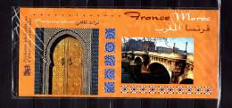 """"""" FRANCE MAROC """" Pochette D'Emission Commune De 2001. N°YT 2 X 3241 42 +Timbres Maroc (Prix à La Poste = 6.86 €) PPEC - Emissions Communes"""
