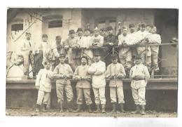 33 BORDEAUX CASERNE FAUCHE 144è D'INFANTERIE CARTE PHOTO Prise Derrière Les Cuisines 1913 CPA 2 SCANS - Casernas