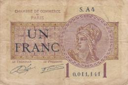 France - Chambre De Commerce De Paris - Billet De 1 Franc - 10 Mars 1920 - Handelskammer