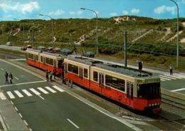 ! Modern Postcard, Belgien, Kusttram, Tramway, Straßenbahn, Koksijde, 1986 - Strassenbahnen