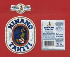 Polynésie Française / Tahiti - Etiquette De Bière Hinano / Blanche 33 Cl - Avril 2019 - TTB - Bier