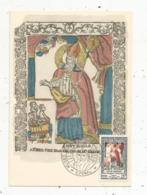 Carte Maximum , Musée De L'Imagerie ,SAINT NICOLAS , EPINAL ,1951,Philatélic Club Vosgien,cachet 1 Er Jour, 2 Scans - Maximumkarten
