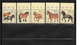 THEME CHEVAUX / Série De 5 Timbres Neufs** Bords De Feuille  D'ALLEMAGNE FEDERALE De 1997 - Pferde