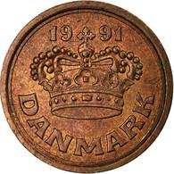 Monnaie, Danemark, Margrethe II, 25 Öre, 1991, TB+, Bronze, KM:868.1 - Dänemark