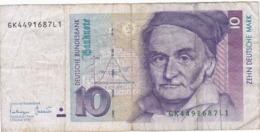 Allemagne - Billet De 10 Mark - Carl-Friedrich Gauss - 1er Octobre 1993 - P38c - 1949-…: BRD