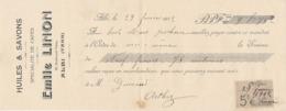 Chèque De Banque Pub Huile Et Savon Spécialité De Cafés Emile Linon Albi Tarn 1912 - Chèques & Chèques De Voyage