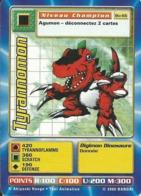B - CARTE DIGIMON TYRANNOMON BO-66 FR BON ETAT - Trading Cards