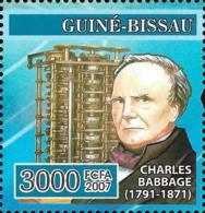 Guinea Bissau Charles Babbage Computer Inventor 1v Stamp MNH Michel:3480 - Famous People