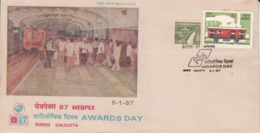 India  1987  Trains  Metro Railway  Calcutta  WEBPEX  Special Cover  #  22788  D Inde Indien - Trains