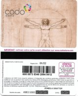 @+ Carte Cadeau - Gift Card : Cado Carte - Leonard De Vinci (01/22) - France - Francia