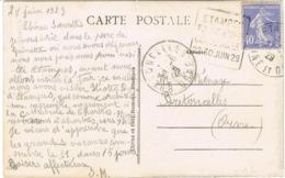 DAGUIN COMMEMORATIF D'ETAMPES FOIRE EXPO CONCOURS AGRICOLE  SUR CPA - Marcophilie (Lettres)