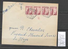 Maroc - Lettre - Cachet Hexagonal Bureau D'IMINI - Pour La Haye - Pays Bas - 1950 - Maroc (1891-1956)