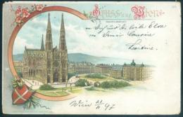 Austria Wien Vienna Gruss Aus Sien Maximiliansplatz 1897 - Églises