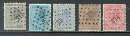 Belgique   Cob 17 à 20   Ob Second Choix - 1865-1866 Profile Left