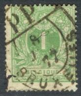 Belgique   Cob 26   Ob  B/TB  Obli  Elliptique Bruxelles PP - 1869-1888 Lion Couché (Liegender Löwe)