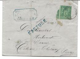 France Facture Lequeux Lecat Chalons Sur Marne 10/01/84 / YT 75 - Marcophilie (Lettres)
