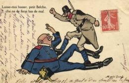 Militaria Satirique Masebeuf Laisse Moi Basser ,petit Belche, Che Ne Fe Ferai Bas De Mal RV - Patriottiche