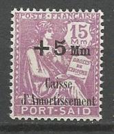 PORT-SAÏD N° 87 NEUF** LUXE SANS CHARNIERE / MNH - Puerto Said (1899-1931)