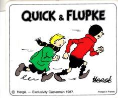 Thematiques Personnages Bande Dessinée Autocollant Sticker Quick & Flupke Hergé Exclusivity Castermann 1987 - Advertising