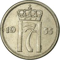 Monnaie, Norvège, Haakon VII, 10 Öre, 1955, TTB, Copper-nickel, KM:396 - Noruega