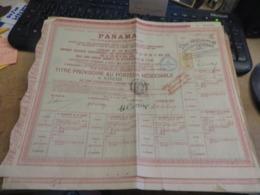PANAMA 8 Titres Toutes Photographiées - Acciones & Títulos