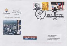 USA Cover 2002 Salt Lake City Olympic Games - Olympic Torch Station (G103-44) - Winter 2002: Salt Lake City
