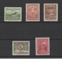 EQUATEUR.  YT   PA  N° 67/71  Neuf *  1939 - Equateur