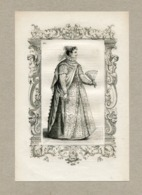 Costume Of Noble Lady From Conegliano Venice Fashion Mode Engraving Vecellio 1860 № 161 - Prints & Engravings