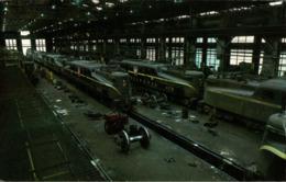 ! Moderne Ansichtskarte  Wilmington, Main Electric Shop. Pennsylvania Railroad, Eisenbahn, Chemin De Fer, USA - Eisenbahnen