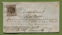 """TESTAMENT  : """" Timbre Type """" MANTEAU IMPERIAL """" De Dimension N°7 - CHAUMONT  1866 - Revenue Stamps"""
