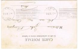RARE UTILISATION EN ARRIVEE DE LA KRAG A PONT DE PARIS DEPART EN ARRIVEE SUR CPA ( UNE SEMAINE D'USAGE ) - Marcophilie (Lettres)