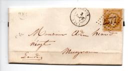 LETTRE . NAPOLÉON 10c BRUN CLAIR . MUGRON LANDES . 03 SEPTEMBRE 1864 - Réf.n°785T - - 1849-1876: Période Classique