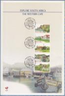 South Africa RSA - 1998 - Tourism Explore Western Cape Airmail Postcard Rate Folder/Card 6.81 - Struisvogels