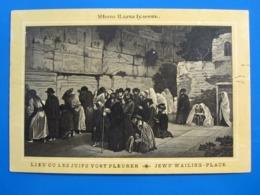 VINTAGE POSTCARD CARTE POSTALE POSTKARTE WESTERN WAILING WALL KOTEL JERUSALEM PALESTINE ISRAEL PRINTED IN RUSSIA - Israel