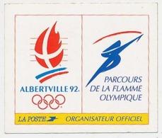 Autocollant 7 X 6 Cm Jeux Olympiques D'Hiver D'Albertville 1992 Parcours De La Flamme Olympique La Poste Organisateur * - Olympics