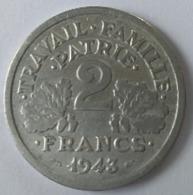 2 FRANCS -1943 - ETAT FRANCAIS - - I. 2 Francs
