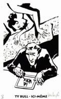Thematiques Ex Libris Bande Dessinée Personnage à Découvrir Ty Bulle Ici Même Rare - Exlibris