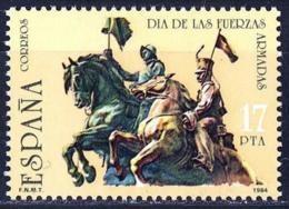 España. Spain. 1984. Dia De Las Fuerzas Armadas. Cazadores De Alcantara. Academia Caballeria. Valladolid - Militares