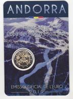 Andorre Pièce De 2 Euros Millésime 2019 Sous Emballage Finales De La Coupe Du Monde De Ski Alpin - Andorra