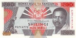TANZANIA 200 SHILLINGS ND (1993) P-25b UNC  [TZ124b] - Tanzania