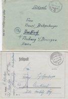 1941/42 - GERMANY - III REICH - FELDPOST - FIELD POST - CORREO DE CAMPAÑA - 2 COVERS - Deutschland
